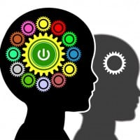 picture of a head showing the brain at work setting intentions