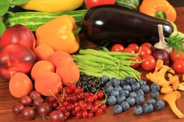 fruits and vegetables as part of a personalized nutrition program from a health coach