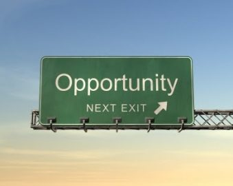 exit sign showing how pain costs opportunity