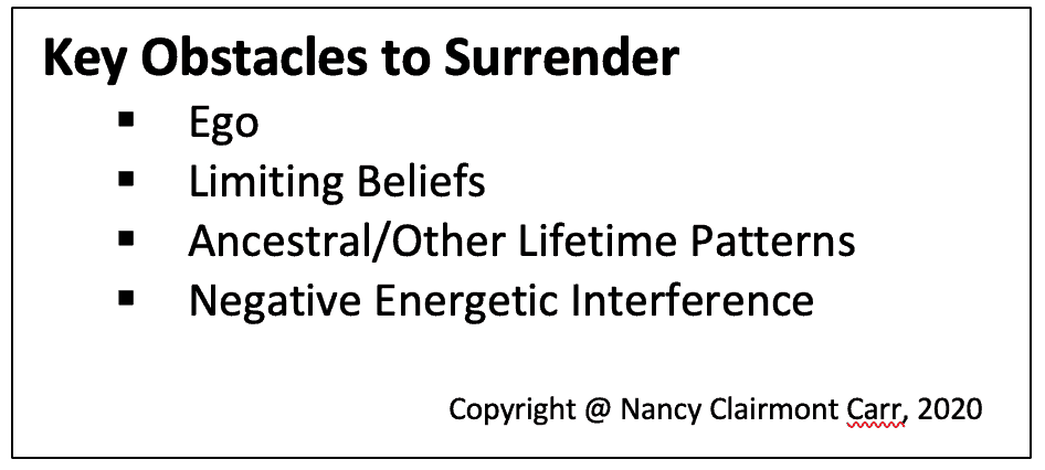 obstacles to surrender